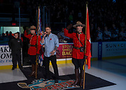 KELOWNA, CANADA - NOVEMBER 11:  Remembrance Day Cermonies at the Kelowna Rockets game on November 11, 2017 at Prospera Place in Kelowna, British Columbia, Canada.  (Photo By Cindy Rogers/Nyasa Photography,  *** Local Caption ***
