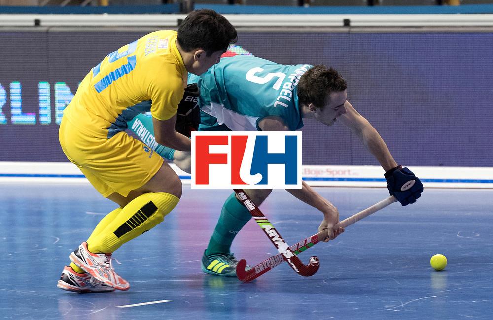 BERLIN - Indoor Hockey World Cup<br /> Men: Australia - Kazakhstan<br /> foto: CAMPBELL Aidan.<br /> WORLDSPORTPICS COPYRIGHT FRANK UIJLENBROEK