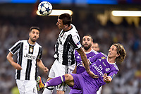 Mario Mandzukic of Juventus and Luka Modric of Real Madrid during the UEFA Champions League Final match between Real Madrid and Juventus at the National Stadium of Wales, Cardiff, Wales on 3 June 2017. Photo by Giuseppe Maffia.<br /> <br /> Giuseppe Maffia/UK Sports Pics Ltd/Alterphotos