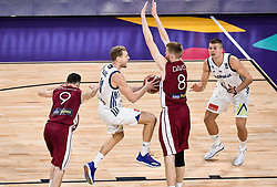 Jaka Blazic of Slovenia vs Davis Bertans of Latvia during basketball match between National Teams of Slovenia and Latvia at Day 13 in Round of 16 of the FIBA EuroBasket 2017 at Sinan Erdem Dome in Istanbul, Turkey on September 12, 2017. Photo by Vid Ponikvar / Sportida