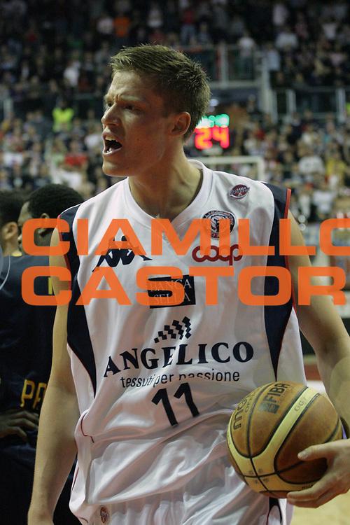 DESCRIZIONE : Biella Lega A1 2008-09 Angelico Biella Premiata Montegranaro<br /> GIOCATORE : Jonas Jerebko<br /> SQUADRA : Angelico Biella<br /> EVENTO : Campionato Lega A1 2008-2009<br /> GARA : Angelico Biella Premiata Montegranaro<br /> DATA : 01/03/2009<br /> CATEGORIA : Delusione<br /> SPORT : Pallacanestro<br /> AUTORE : Agenzia Ciamillo-Castoria/S.Ceretti