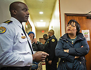 New Orleans police chief offier Shaun Ferguson with New Orleans Mayor LaToya Chantrell  at a gun buyback event she called for on Jan 20, 2019. The line started at 5:30.  Only 200 of the more than 1000 people who turned out were able to claim the $500 offered for any gun in working condition turned in. When the Mayor first announced the buyback program no limits were put on how many guns you could bring in for $500. That was changed to $500 maximum payout to any one who could prove residency in Orleans Parish.