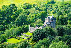 View of Castle Campbell in Dollar, Clackmannanshire, Scotland, UK
