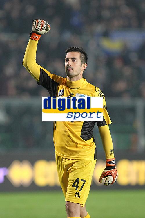 """Andrea Consigli Atalanta<br /> Bergamo 10/11/2012 Stadio """"Azzurri d'Italia""""<br /> Football Calcio Serie A 2012/13<br /> Atalanta v Inter<br /> Foto Insidefoto Paolo Nucci"""