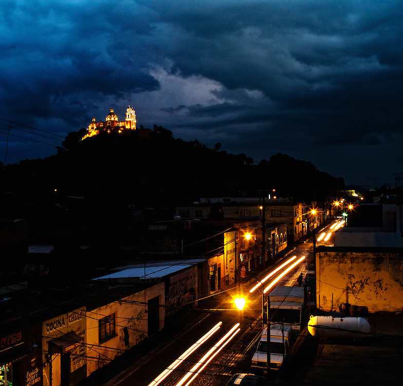 Cholula at night