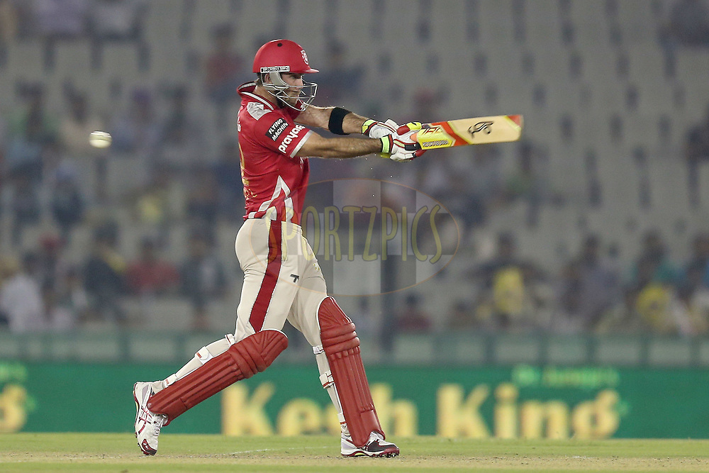 Glen Maxwell during match 2 of the Oppo Champions League Twenty20 between the Kings XI Punjab and the Hobart Hurricanes held at the Punjab Cricket Association Stadium, Mohali, India on the 18th September 2014. Photo by:  Jacques Rossouw / Sportzpics/ CLT20<br /> <br /> <br /> Image use is subject to the terms and conditions as laid out by the BCCI/ CLT20.  The terms and conditions can be downloaded here:<br /> <br /> http://sportzpics.photoshelter.com/gallery/CLT20-Image-Terms-and-Conditions-2014/G0000IfNJn535VPU/C0000QhhKadWcjYs