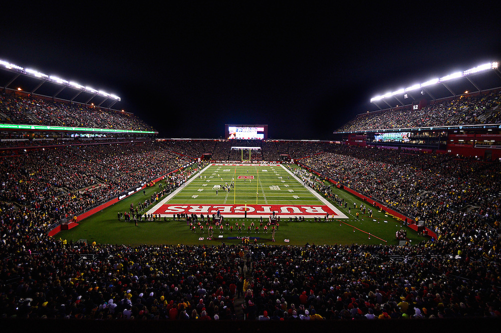 The Rutgers Scarlet Knights football team takes on the Michigan Wolverines at High Point Solutions Stadium on Saturday night, October 4, 2014.<br /> Will Schneekloth/Rutgers Athletics