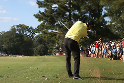 September 21, 2018 - Atlanta, Georgia, United States - Rickie Fowler hits out of the rough during the second round of the 2018 TOUR Championship. (Credit Image: © Debby Wong/ZUMA Wire)