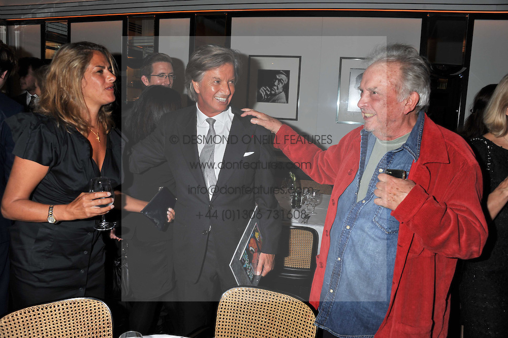 Left to right, TRACEY EMIN, RICHARD CARING  and DAVID BAILEYat a dinner to celebrate the 30th anniversary of Le Caprice, Arlington Street, London SW1 on 4th October 2011.