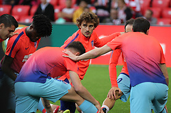 March 16, 2019 - Bilbao, Vizcaya, Spain - Griezmann of Atletico de Madrid in action during La Liga Spanish championship, , football match between Athletic de Bilbao and Atletico de Madrid, March 16th, in Nuevo San Mames Stadium in Bilbao, Spain. (Credit Image: © AFP7 via ZUMA Wire)