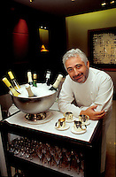 Chef Guy Savoy in Paris..photo by Owen Franken
