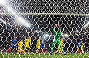 PARIS, FRANKRIKE - 2016-11-11: Paul Pogba g&ouml;r 1-1 under VM-kvalmatchen mellan Frankrike och Sverige p&aring; Stade de France, Paris, den 11 november 2016.<br /> Foto: Nils Petter Nilsson/Ombrello<br /> ***BETALBILD***