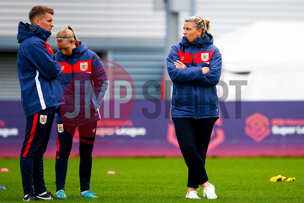 Tanya Oxtoby manager of Bristol City Women prior to kick off- Mandatory by-line: Ryan Hiscott/JMP - 14/10/2018 - FOOTBALL - Stoke Gifford Stadium - Bristol, England - Bristol City Women v Birmingham City Women - FA Women's Super League 1