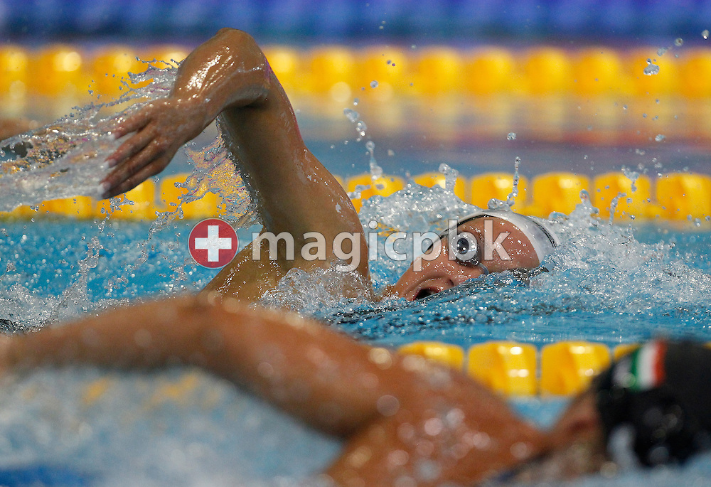 Mireia Belmonte Garcia of Spain on her way winning the women's 1500m Freestyle Final during the 31st LEN European Swimming Championships in Debrecen, Hungary, Saturday, May 26, 2012. (Photo by Patrick B. Kraemer / MAGICPBK)
