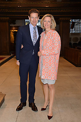 JAMES & JULIA OGILVY at a reception and debate to celebrate the publication of  'Women in Waiting, Prejudice at the the Heart of the Church' by Julia Ogilvy held at St.James's Church, 197 Piccadilly, London on 11th March 2014.