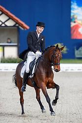 KIM Dongseon (KOR), Schoene Zeit<br /> Hagen - Horses and Dreams meets the Royal Kingdom of Jordan 2018<br /> Prix St Georges<br /> 25 April 2018<br /> www.sportfotos-lafrentz.de/Stefan Lafrentz