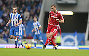 Middlesbrough FC defender Ben Gibson during the Sky Bet Championship match between Brighton and Hove Albion and Middlesbrough at the American Express Community Stadium, Brighton and Hove, England on 19 December 2015.