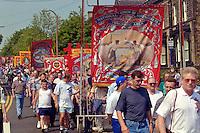 Prince of Wales banner, Yorkshire Miners Gala Barnsley 16/6//96