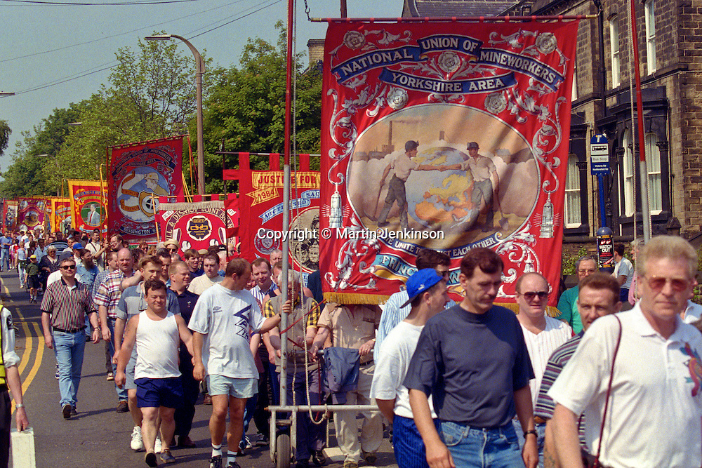 Prince of Wales banner, Yorkshire Miners Gala Barnsley 16/6//96