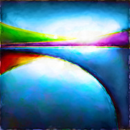 Calming &amp; Colorful &quot;Dreamscape&quot; Abstract Landscapes<br />