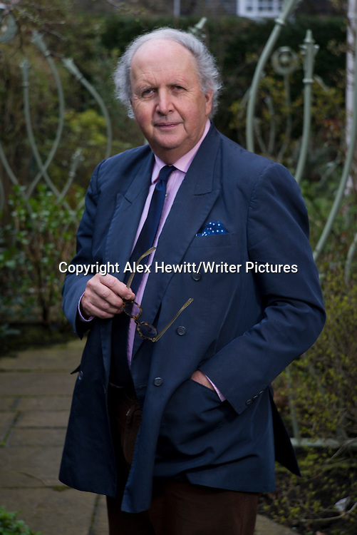 Alexander McCall Smith, Scottish writer at his home in Edinburgh, Scotland. 2nd April 2014<br /> <br /> Picture by Alex Hewitt/Writer Pictures<br /> <br /> World Rights