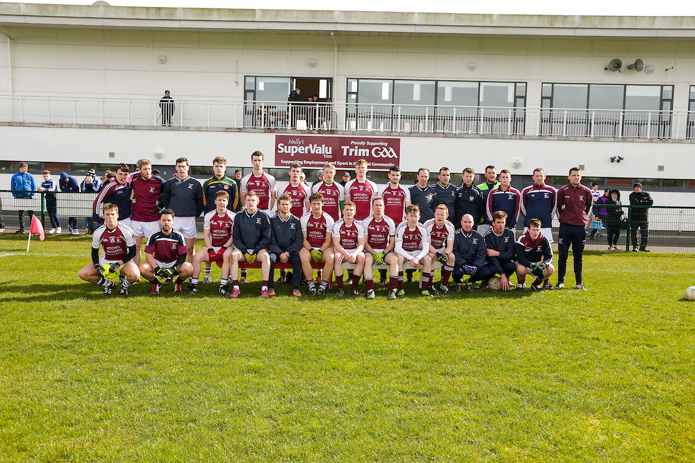 SFC at Trim, April 10th 2016.<br /> Navan O`Mahonys vs Moynalvey<br /> Moynalvey Team, Back Row, L-R, Conor Harnan, Paul Conneely, Padraig Harnan, Conor Sheeran, Donal Smith, Brian Harnan, Shane Lenehan, Robert Lawless, Mark O`Sullivan, James O`Neill, Anthony O`Brien, David Reilly, Dominick O`Brien, Sean Dearing, Conor Regan, James Weldon.<br /> Front Row, L-R, James Kelly, David Donoghue, Fergal McCabe, Sean Duigan, Darragh Branigan, Eamonn Walsh, Darren Brennan, Stephen Donoghue, David McLoughlin, Cathal McCabe, Ciaran Ennis, Eoghan Mitchell, Shane Browne<br /> Photo: David Mullen /www.cyberimages.net / 2016