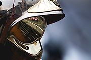 May 23-27, 2018: Monaco Grand Prix. Esteban Ocon (FRA), Sahara Force India, VJM11 reflected in a Monaco marshals helmet