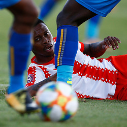 Thabiso Kutumela of Maritzburg Utd during the Premier Soccer League (PSL) promotion play-off  match between  Royal Eagles and Maritzburg United F.C. at the Chatsworth Stadium Durban.South Africa,29,05,2019