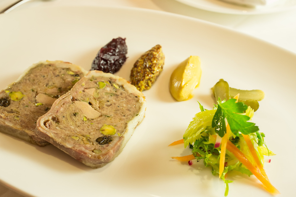 New York, NY - 27 May 2014. The terrine of the day at The Simone, a pâté de campagne.