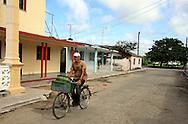 Bicycling in Santa Cruz del Norte, Mayabeque, Cuba.