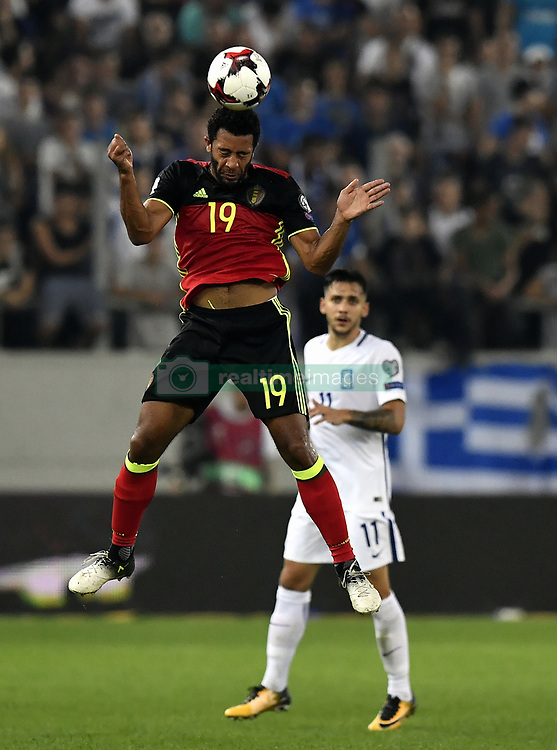 September 3, 2017 - Athens, GREECE - Belgium's Mousa Dembele and Greece's Anastasios Donis pictured in action during a World Cup qualification game between Greece and Belgian national soccer team Red Devils in Piraeus, Athens, Greece, Sunday 03 September 2017. BELGA PHOTO DIRK WAEM (Credit Image: © Dirk Waem/Belga via ZUMA Press)