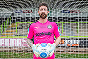 Forest Green Rovers goalkeeper Sam Russell(23) during the Forest Green Rovers Press Conference and Training session at the New Lawn, Forest Green, United Kingdom on 12 May 2017. Photo by Shane Healey.