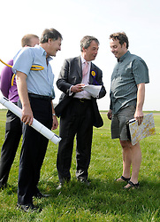 © under license to London News Pictures. 09/05/11. Justin Adams case adjourned for reports into Mr Adams alcohol problem. FILE PICTURE  01/12/2010 Pictured: Nigel Farage and Justin Adams (R) photographed a week before the flight which crashed. Justin Adams, the pilot of the plane which crashed and injured Nigel Farage has been charged with threatening to kill the politician. Picture credit should read Stephen Simpson/London News Pictures
