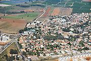 Rural aerial photography. Photographed in Israel
