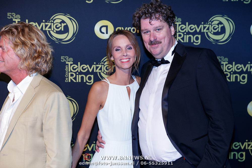NLD/Amsterdam/20181011 - Televizier Gala 2018, Diederik Ebbinga en partner Roosmarijn Luyten
