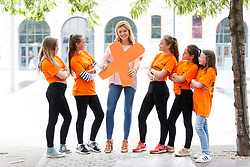 Repro Free: 06/07/2017 Pictured at the Irish Cancer Society's X-HALE Youth Awards in the Odeon Cinema Point Village were Caoimhe Monaghan, Natalija Oseniece, Paula Karpa, Eliza Amolina, Cara Smith from Bounce Back Youth Services Cavan with blogger and radio presenter Doireann Garrihy. Over 300 young people from 40 youth and community groups showcased a huge range of short films based on anti-tobacco messages. Picture Andres Poveda