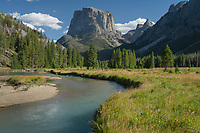 Squaretop Mountain and Green River Bridger Wilderness, Wind River Range Wyoming
