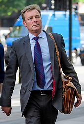 © Licensed to London News Pictures. 04/07/2017. London, UK. Conservative MP CRAIG MACKINLAY arrives at Westminster Magistrates Court in London where he faces charges relating to his 2015 general election expenses. Craig Mackinlay, Nathan Gray and Marion Little have each been charged with offences under the Representation of the People Act 1983. Photo credit: Ben Cawthra/LNP