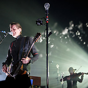 FAIRFAX, VA - March 24th, 2013 -  Jonsi  (left) of Sigur Ros performs at the Patriot Center in Fairfax, VA on the opening date of their 2013 North American tour.  The band will hit 15 cities in North America touring behind their 2012 album, Valtari. (Photo by Kyle Gustafson/For The Washington Post)