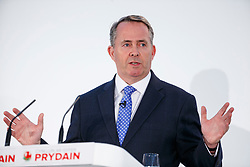 © Licensed to London News Pictures. 17/03/2017. Cardiff, UK. International Trade Secretary LIAM FOX speaks at Conservative Spring Forum in Cardiff, Wales on 17 March 2017. Photo credit: Tolga Akmen/LNP