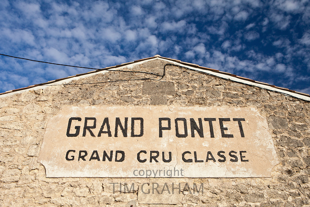 Chateau Grand Pontet at St Emilion in the Bordeaux wine region of France