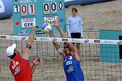 25-08-2006: VOLLEYBAL: NESTEA EUROPEAN CHAMPIONSHIP BEACHVOLLEYBALL: SCHEVENINGEN<br /> Mathijs Mast<br /> &copy;2006-WWW.FOTOHOOGENDOORN.NL