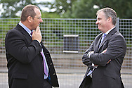 Richard Lochhead (Cabinet Secretary for Rural Affairs and the Environment) visit to Vion Food Group's Coupar Angus processing plant. Richard Lochhead and Andrew Fisher, MD Vion Food Group Scotland Ltd