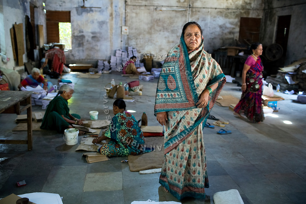 Rashida Bee, 56, the co-funder of Chingari Trust Rehabilitation Centre for disabled children, is standing inside the premises of Gas Peedit Mahila Stationary Ikai, a union of 'gas-affected women', of which she is also the president, in Bhopal, Madhya Pradesh, India.