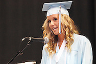 Hannah Gillespie delivers the welcoming remarks.during the Fairborn High School commencement at the Nutter Center in Fairborn, Friday, May 25, 2012.