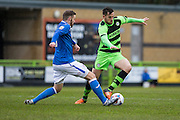 Forest Green's Darren Carter on the ball during the Vanarama National League match between Forest Green Rovers and Eastleigh at the New Lawn, Forest Green, United Kingdom on 20 February 2016. Photo by Shane Healey.