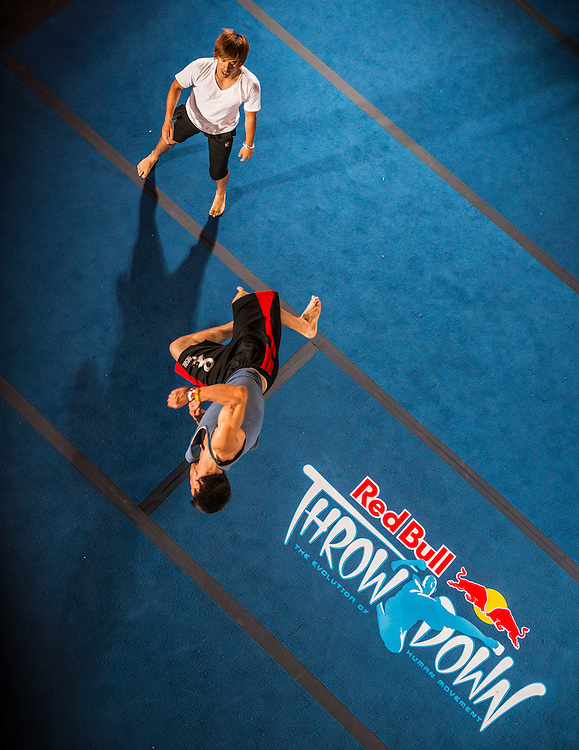 Aleksey Doronin competes against Andy Lee during the one on one event at Red Bull Throwdown in Atlanta, Georgia on August 25th, 2013
