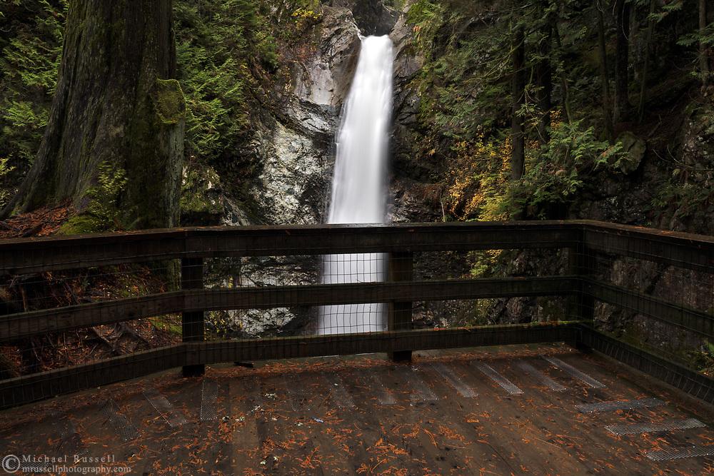 Viewing platform at Cascade Falls Regional Park near Mission, British Columbia, Canada