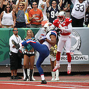 Arizona Cardinal, Larry Fitzgerald continues to rack up the points in front of excited fans in the 2nd Quarter for the NFC in the NFL Pro Bowl, Aloha Stadium, 1/30/11, Photo by Barry Markowitz