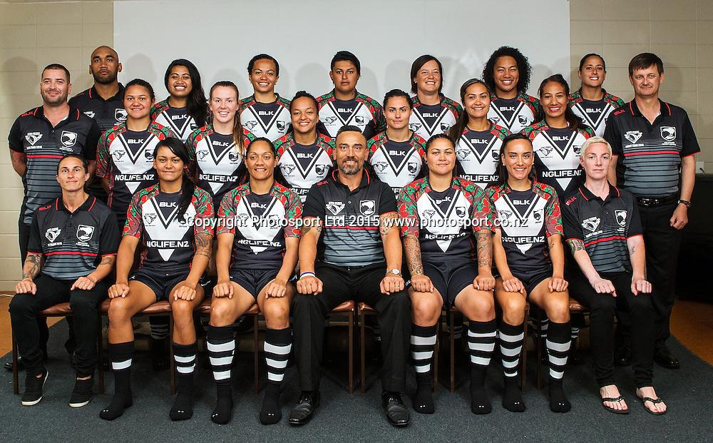 New Zealand Kiwi Ferns, Auckland Nines Rugby League Tournament, Auckland, New Zealand, Saturday, January 31, 2015.  Copyright Photo: David Rowland/www.photosport.co.nz